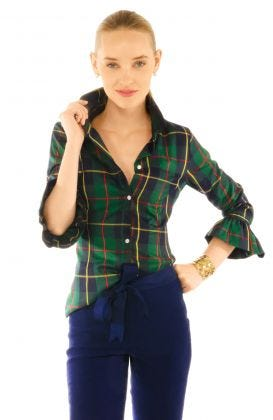 Priss Blouse - Plaidly Cooper