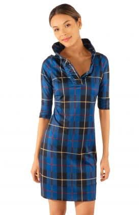 Jersey Ruffneck Dress - Plaidly Cooper