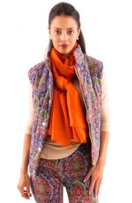 The Puffer Vest - Pleasantly Paisley