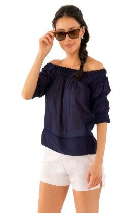 Cotton Pleated Beauty Top