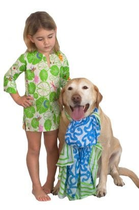 Girls Cotton Tunic - Pond Party