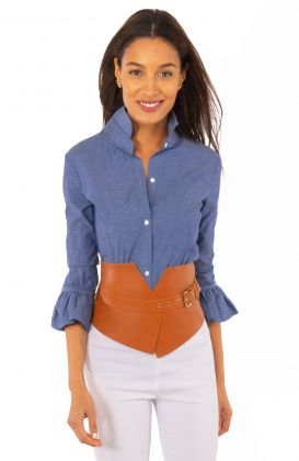 Priss Blouse - Chambray