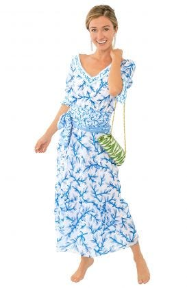 Aix-en-Provence Midi Dress - Weed Wacker