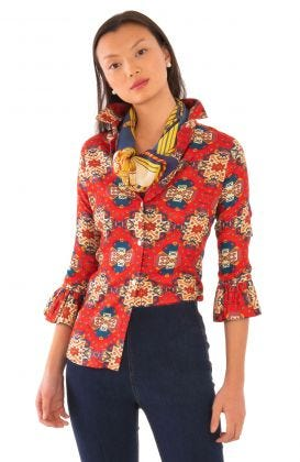 Priss Blouse - Turkey Trot