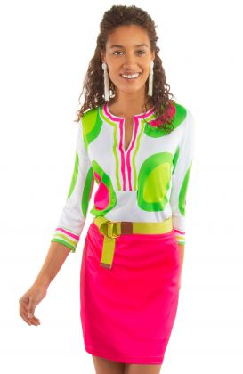 Jersey Split Neck Tunic - Rock Out