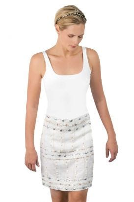 Linen Beaded Skirt - Seychelles