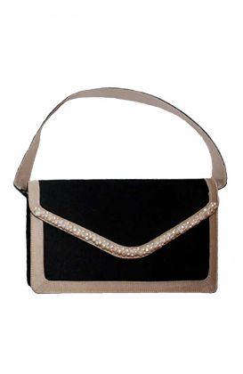 Shoulder Bag - Fresh Water Pearl Trimmed