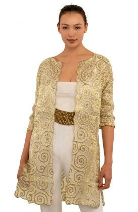 Silk Embroidered Duster