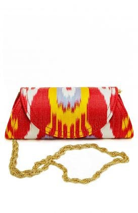 Clutch Bag - Iridescent Ikat