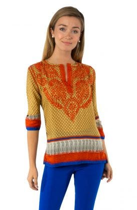 Silk Hand Embroidered Tunic
