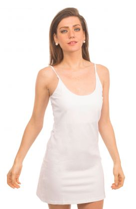 Cotton Spandex Long Cami Slip