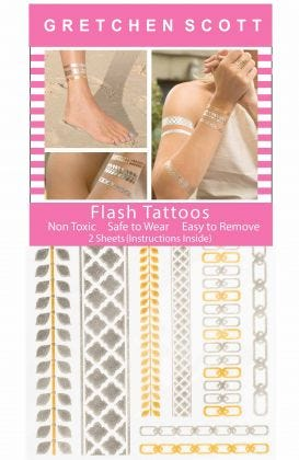 Flash Tats - Metallic Temporary Tattoos