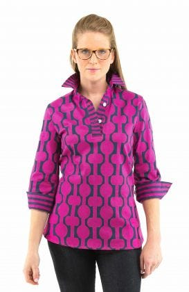 Cotton Spandex Sport Shirt - Havana Nights