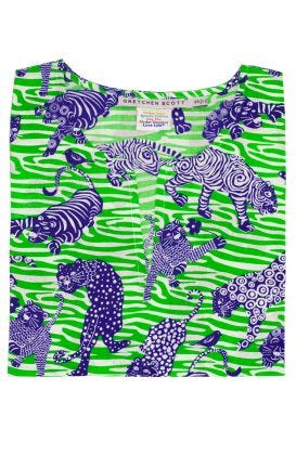 Girls Cotton Tunic - Tiger Tails