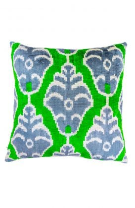Hand Woven Velvet Silk Pillows - Turtle Ikat