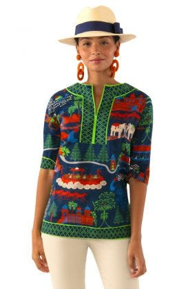 Split Neck Tunic - Jodhpur Journal