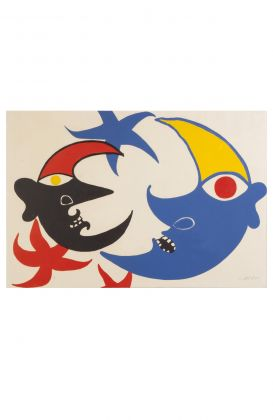 Two Moons Lithograph, Alexander Calder