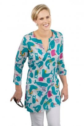 """Mommy & Me"" Mommy Cotton Tunic - Whale Watch"