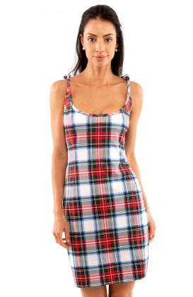 Sweets Shoulder Tie Dress - Duke of York