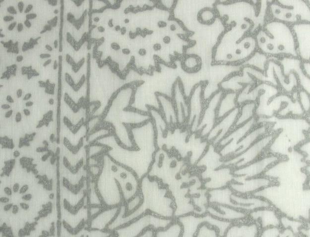 Metallic Flowery Silver