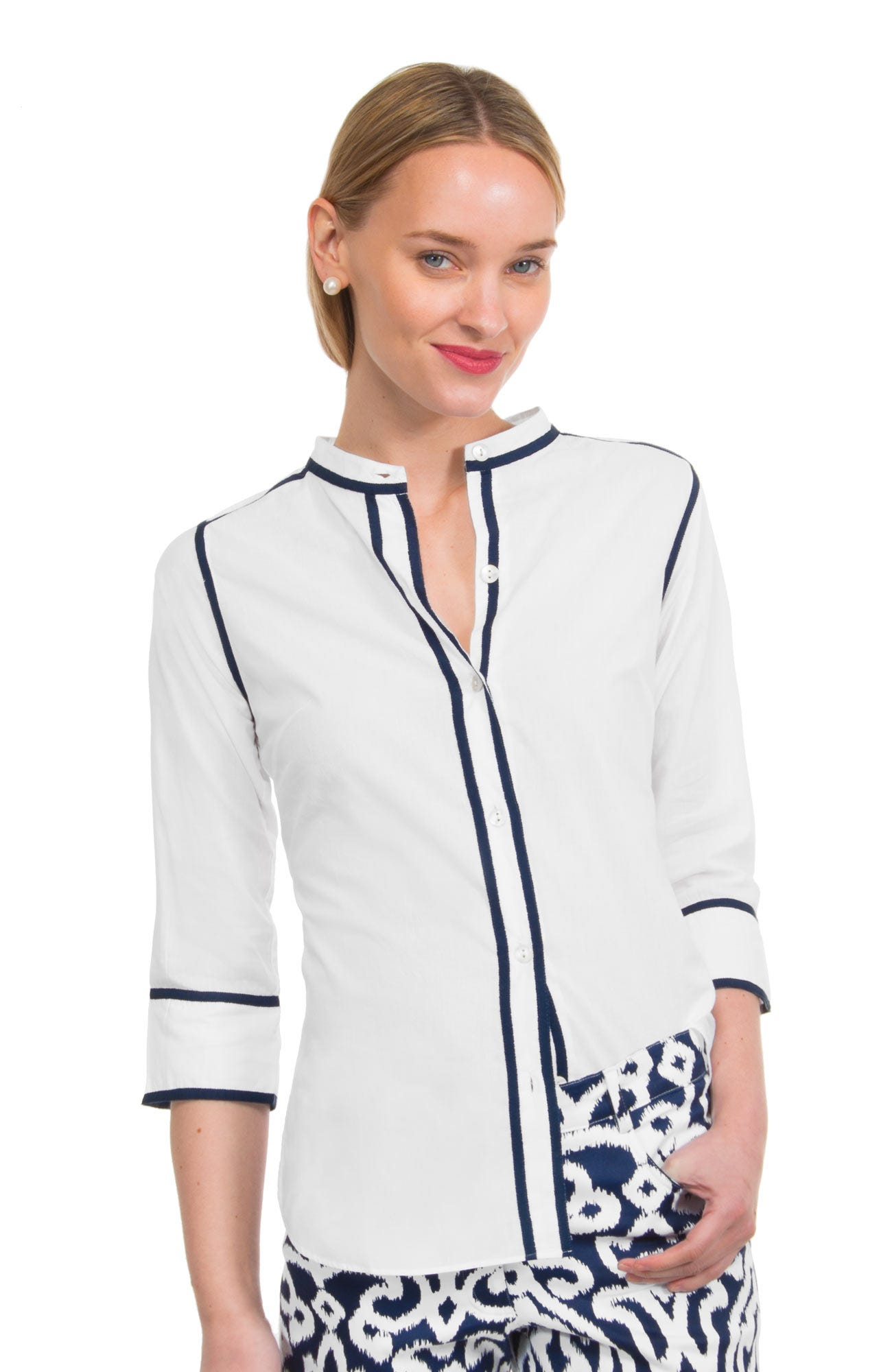 Grosgrain Heaven - Cotton Voile Blouse