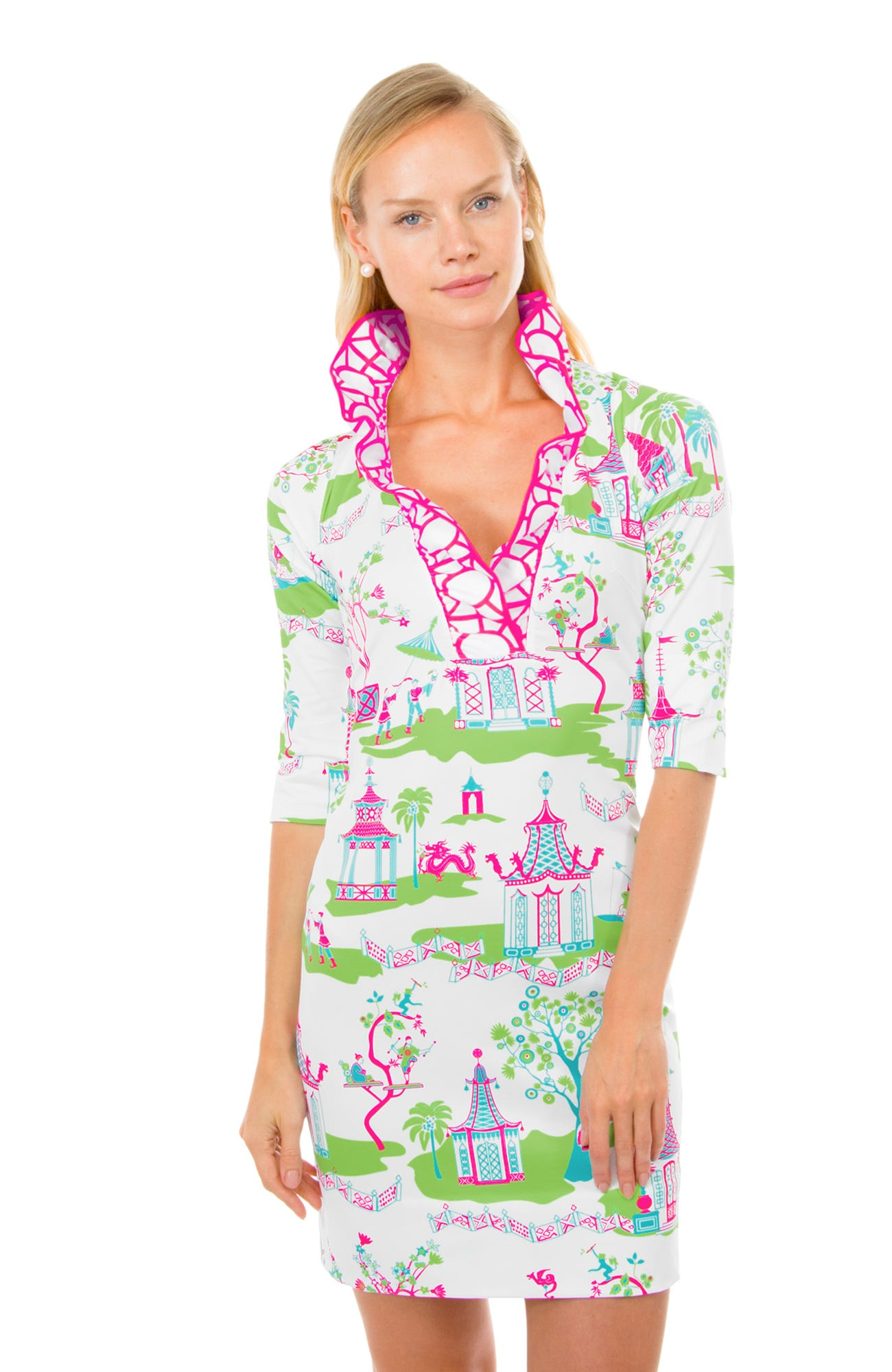Ruffneck Jersey Dress - Pagoda Paradise