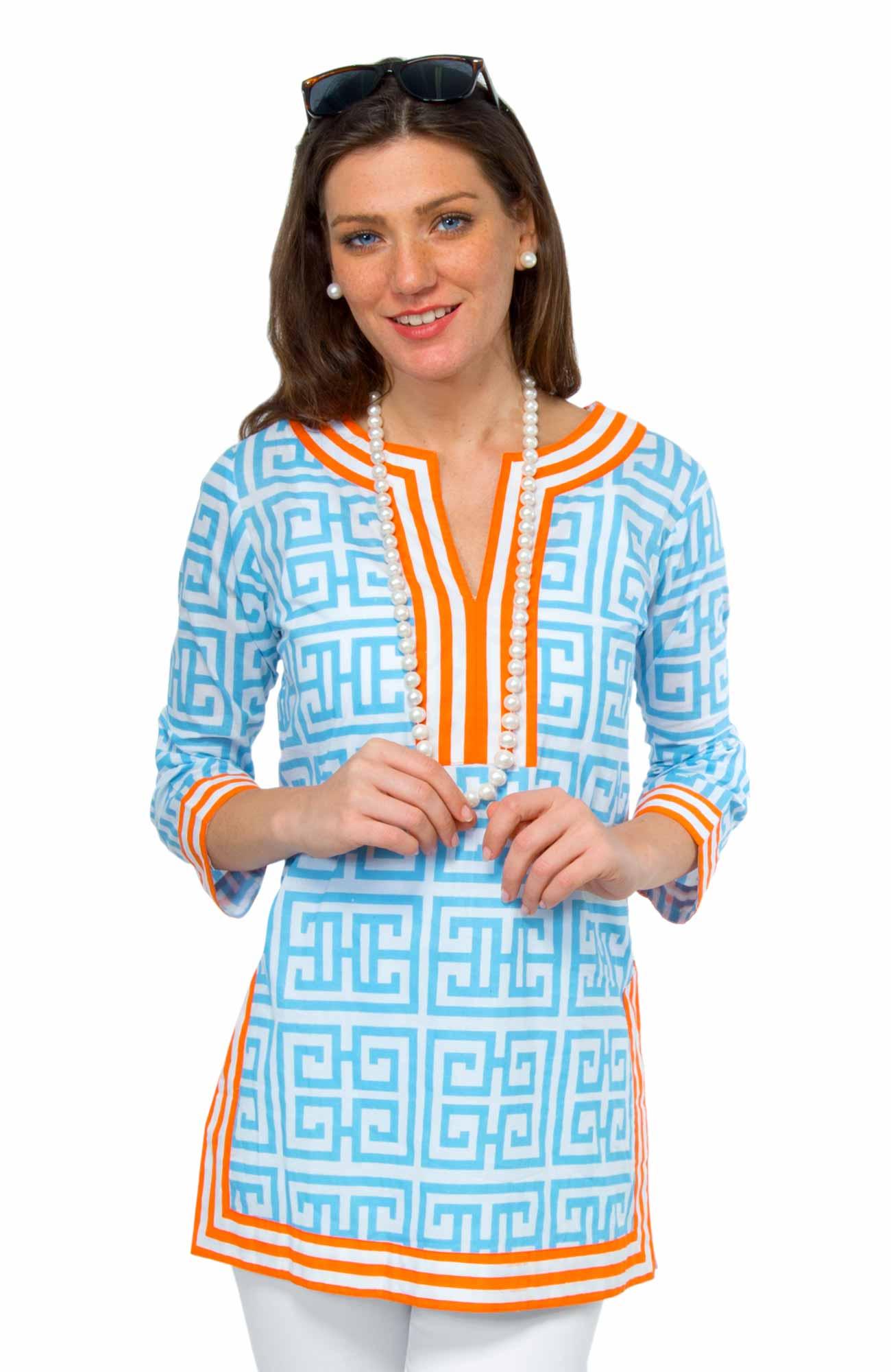 Mandarin - Cotton Split Neck Tunic