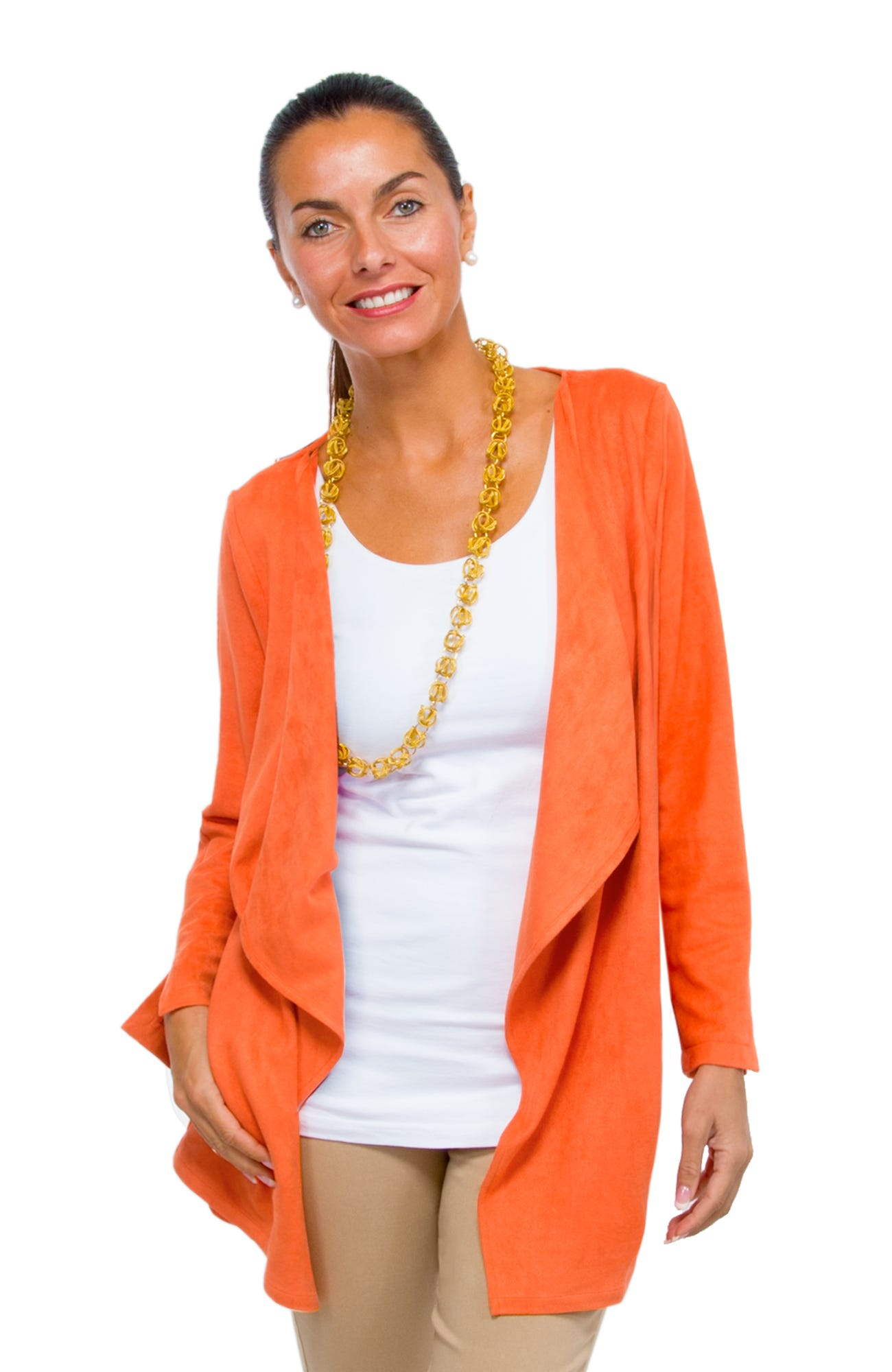 Gretchen Scott Waterfall Suede Cardigan