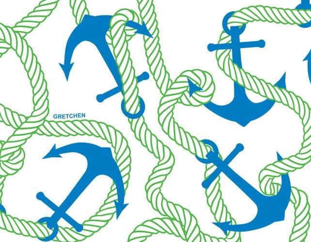 Anchors Away Navy/Kelly