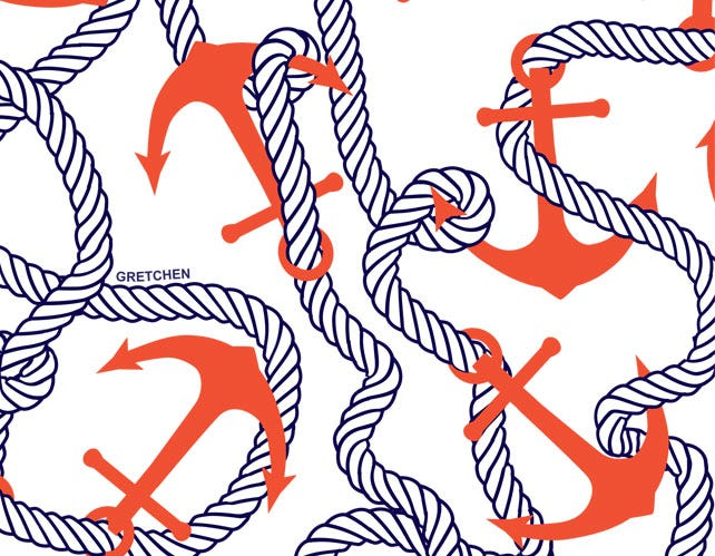 Anchors Away Navy/Red